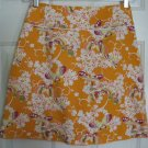 HEART SOUL Orange Above-Knee STRETCH Floral Print skirt size 5