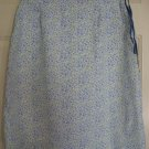 CHEROKEE White Blue Knee-Length FLORAL PRINT Skirt size 6