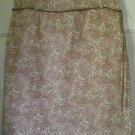 ANN TAYLOR Pink & Tan Knee-Length STRETCH CORDUROY Print Skirt size 2