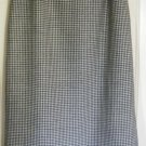 HARVE BENARD Long black & White FRINGED WOOL Skirt size 8
