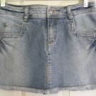 RUBBISH Blue STRETCH DISTRESSED DENIM Mini Skirt Size 5