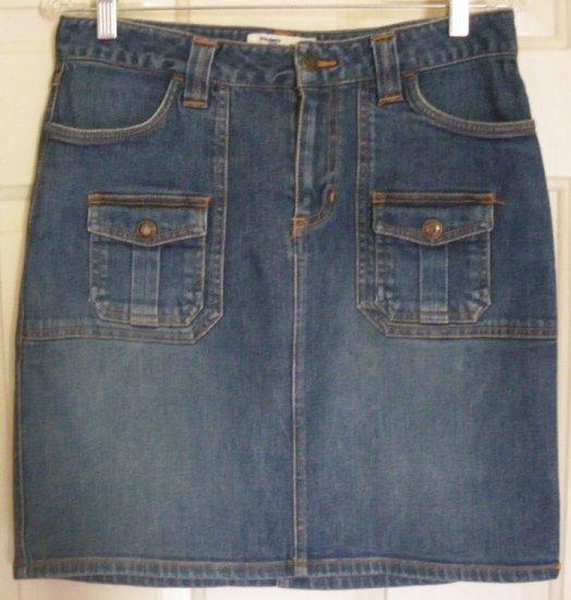 OLD NAVY Blue Above-Knee STRETCH DENIM Skirt size 6
