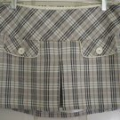 CLASSIC BLUES Beige Mid-Thigh PLAID Skirt size 9