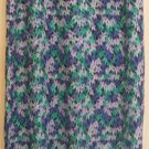 TALBOTS Long Blue & Green FLORAL PRINT Skirt size 12