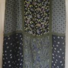 REQUIREMENTS Long Blue & Green PATCHWORK Print Skirt size 1X