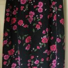 JACLYN SMITH Long Black FLORAL PRINT Skirt size 1X