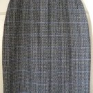 SHERIDAN SQUARE Black & Cream Mid-Calf WOOL Pencil Skirt size 10