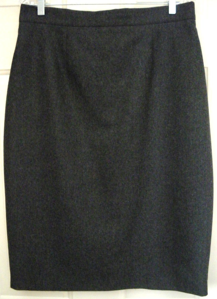 STUDIO 0001 by GIANFRANCO FERRE Gray Mid-Calf WOOL Pencil Skirt size 16