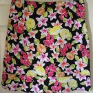 BRIGGS NEW YORK Black Above-Knee STRETCH Floral Prints Skirt size 12