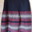 ANN TAYLOR LOFT Knee-Length Black Red White Print Skirt size 4P *NWT*