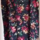 BRIGGS NEW YORK Long Black Floral Prints STRETCH Pencil Skirt size 16
