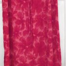 KATHIE LEE Long Red FLORAL PRINTS Skirt size 10