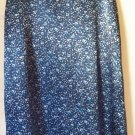 PAQUETTE by BYER CALIFORNIA Long Blue Floral Prints SATIN A-Line Skirt size PM