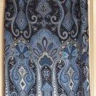TALBOTS Long Blue Paisley Prints SILK Column Skirt size 10