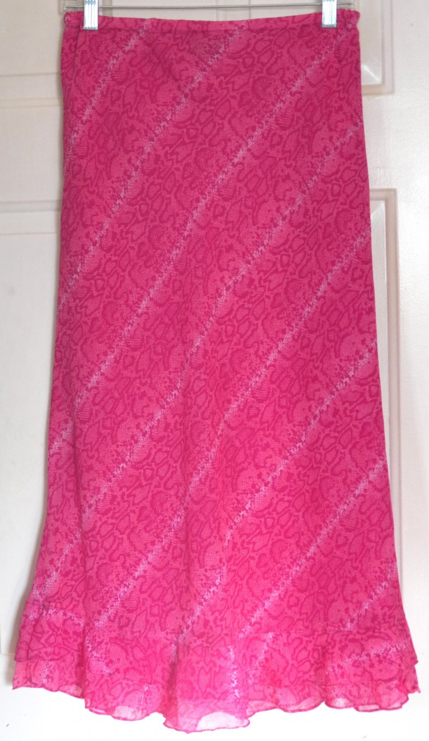 REVUE Mid-Calf Hot Pink LEOPARD PRINTS Skirt size S