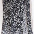 NINE & COMPANY Knee-Length Black & White ANIMAL PRINTS A-Line Skirt size 12P