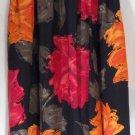 HUNTER Mid-Calf Black Gray Orange Pink FLORAL PRINTS Pleated Skirt size 12