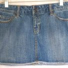 DEAR AB Blue Micro Mini DISTRESSED Denim Skirt size 2