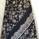 NINE & COMPANY Below-Knee Black Olive Green Floral Paisley Prints A-LINE Skirt size 2P