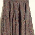 GAP Above-Knee Brown Green Blue Red Multi-Color PLEATED PAISLEY Skirt size 3/4