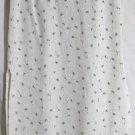 EXACT CHANGE Mid-Calf Ivory Blue Floral Prints SEERSUCKER Column Skirt size 7
