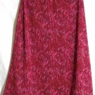 EXACT CHANGE Knee-Length Pink Red Black FLORAL A-Line Skirt size XS
