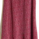 VINTAGE BLUE Long Red Black White Dots COATTAIL HEM Skirt size 9