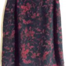 HUNT CLUB Knee-Length Black Red FLORAL PRINTS Skirt size 14