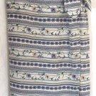 BRIDGETOWN COLLECTION Long Ivory Lavender Blue Floral WRAP SILK Skirt size S