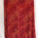 HEART & SOUL Long Red Orange Beige Print COLUMN Skirt size M