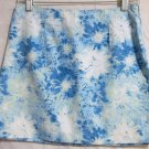 SO...SO REAL SO RIGHT Mid-Thigh Blue White Floral Cotton Skirt size 3