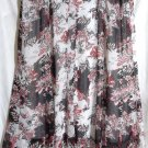 STUDIO 1940 Long White Black Red Floral PANELED Skirt size 30/32W *NWOT*