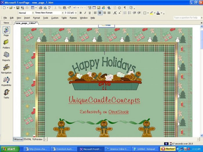 Ginger Bread Ribbons Holiday Template