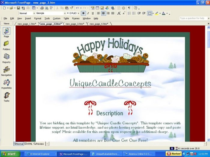 Happy Holidays Holiday Template