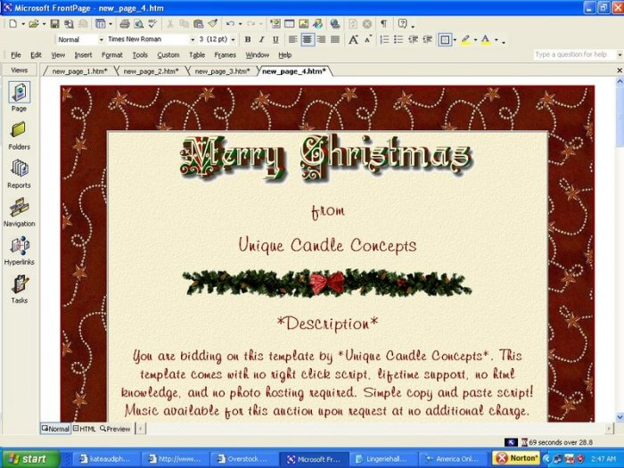 Merry Christmas Holiday Template
