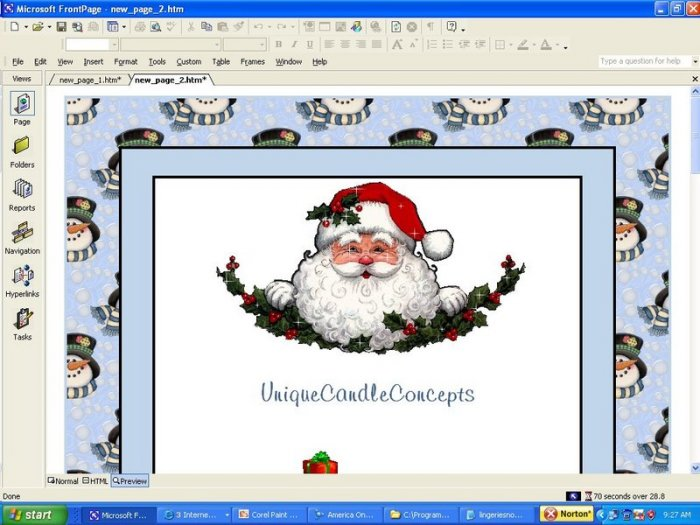 Jack Frost Holiday Template (with welcome header)