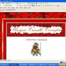 Poinsettia triple bordered Holiday Template