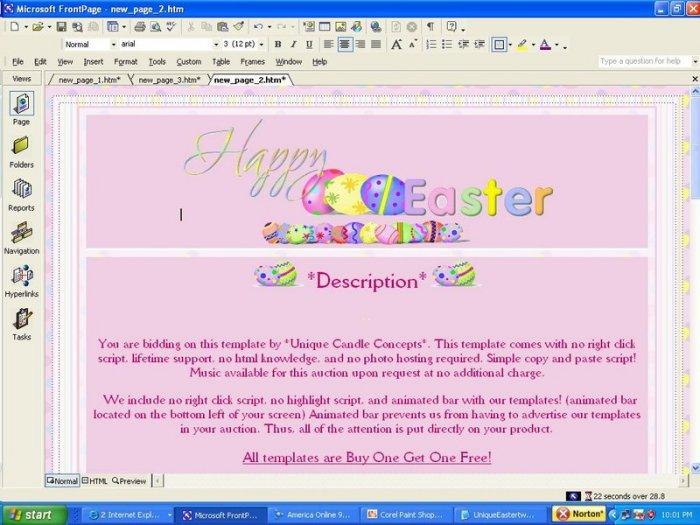 Egg-Static! Easter Template