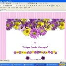 Shower of Flowers Floral Template