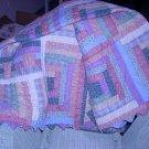 Pastel colored quilt