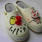 Hand Painted Shoes, 3D Bunny Balloon