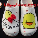 Hand Painted Shoes, 3D Duck Balloon