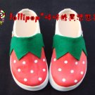 Hand Painted Shoes, 3D Strawberry