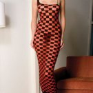 Sheer Checker Pattern Gown. One Size.