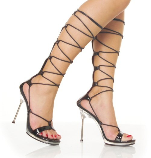 Women's Stiletto Heels/Shoes with Lace Up Calf Straps Size 5-11.