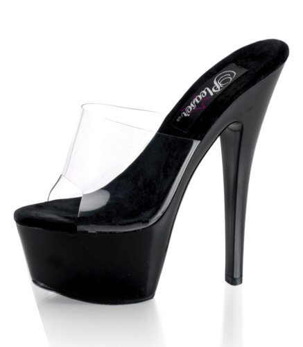 "6"" Stiletto Heel Platform Slide. Size 5-14"