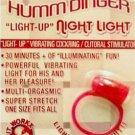 Humm Dinger - Night Light Vibrating Light Up Penis Ring Re-useable