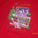 RADIO CITY MUSICAL MUSIC HALL ROCKETTES SPECTAcULAR XMAS SHOW T-SHIRT X/L