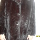 ROYAL-MINKE VINTAGE FULL STYLE FAUX MINK COAT SCALLOPED POM POM BELT WINTER FUR
