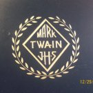 VINTAGE MARK TWAIN JHS DIPLOMA CLASS GRADUATION PICTURE HOLDER FOLDER FRAME